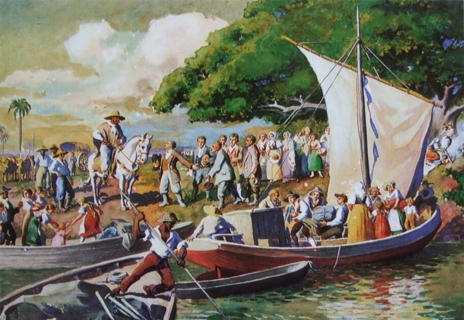 imigrantes-colonizadores-barco-rio